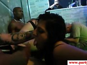 Real amateur babe facialized at euro sexparty