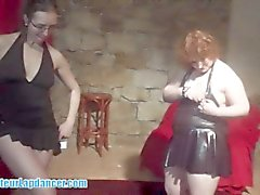 Two girls do a sexy lapdance