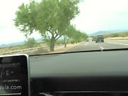 Restless Wife Distracting Her Husband Till He Pulls Over -