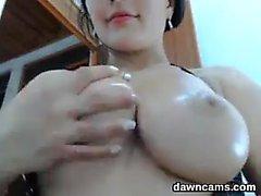Busty cosplay fetish brunette nurse sucks cock pov
