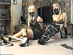 Self bondage party