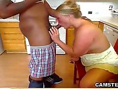 Live Interracial Deep Throats In The Kitchen