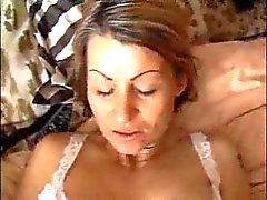 Cheating slut gets creampie from BF