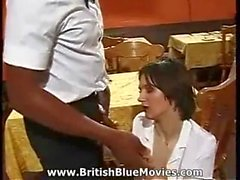 Omar - British Black Cock Hardcore in a Cafe
