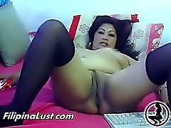 Chubby Asian Whore Fucking Herself