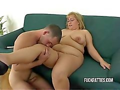 Fat Horny Slut Freezes - Repairman Helps Her Get Warm!