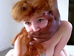 Redhead teen Penelope loving the big black dick