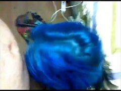 Blue emo homemade porn