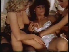 Vintage fucking with elegant girls dressed up in lace under