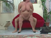 Horny big woman seduced her man and fucked.mp4