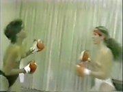 Lori vs Mitch Topless Boxing