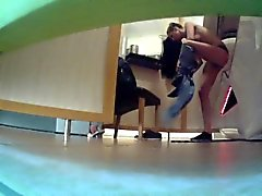 Chick is being caught getting undressed and naked on hidden