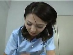 Attractive Japanese babe showing off her handjob abilities
