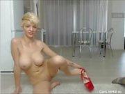 busty blonde step mom u web web cam show big dildo