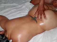 oily big butt latina savage ass rub