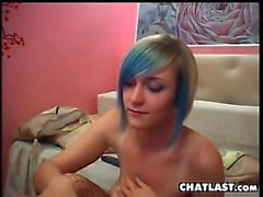 Busty Emo Cam Girl Playing Around