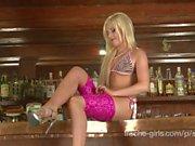 sunny german hot solo girl strip