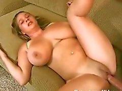 Amateur Gets Her Titties Fucked