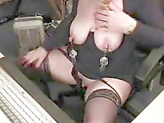 Horny granny with huge clit having fun at com