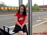 Amateur babe Fae Corbins naughty outdoor masturbation and public flashing