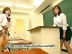 Nao Ayukawa and Rio Hanasaki innocent naughty chinese schoolgirls fuck after school
