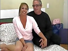 Dude films his wife getting fucked in the ass for the first time