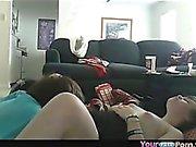 Chubby Teen Couple Homemade Sextape