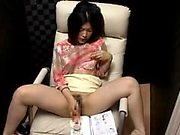 Hairy japanese pussy toying