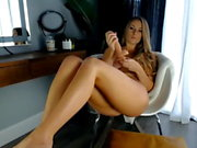 Beautiful girl does a cum show