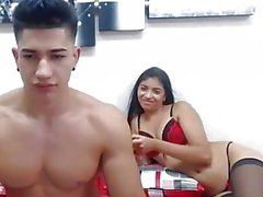 Hot Latino rimmed by girlfriend