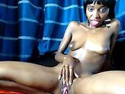 Hot Ebony Masturbation with Busty Black Bitches