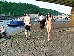 Innocent babe tanja shows her naked hot body in public