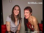 British Babe in her very first Bukkake