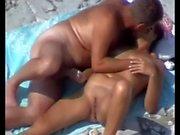 Mature Couple Beach Play.avi