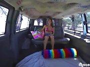 Naughty fun teen on bus (HUUU)