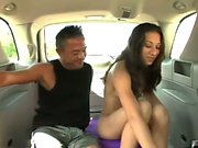 Melanie the hot Latin beach whore decides to take a ride in