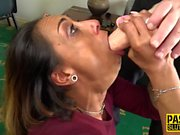 Throated milf sub pounded
