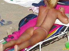 Pink Bikini Amateur Topless Voyeur honeys