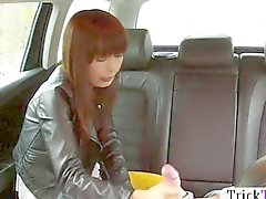 Pretty Asian gal fucked by a taxi driver