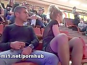 public stadium by naomi1 handjob and footjob cum