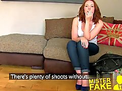 MisterFake Attractive redhead gets surprise creampie