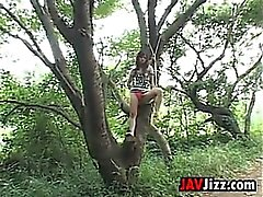 Naughty Japanese Girl In The Forest