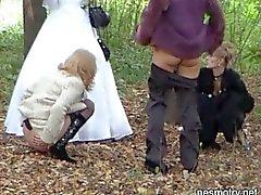 Wedding outdoor piss 1