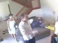 Maid and Wife Captured Having Lesbian Sex on Hidden Cam