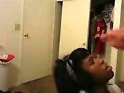 Black Teen Doll Jizzed on the Face