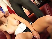 Sexy redhead amateur finishes off her pov casting scene