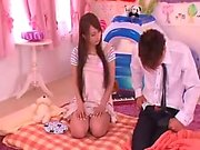 Asian white amateur first time Catching a