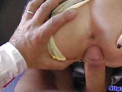 Teen babe fucks old dude