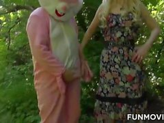 Austrian Teen found a real easter bunny