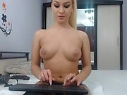 Hot Blonde Orgasm With Sex Toys On Webcam